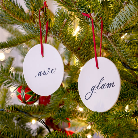 Awe & Glam Ornament Set of Two - Darling Spring