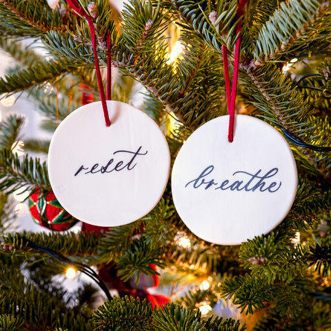 Reset & Breathe Ornament Set of Two - Darling Spring