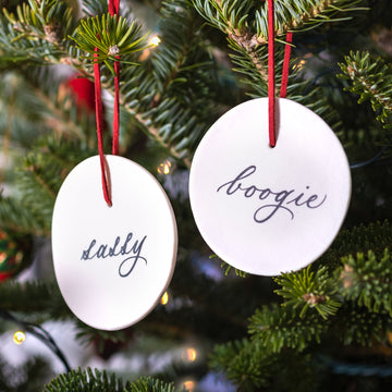 Sassy & Boogie Ornament Set of Two - Darling Spring
