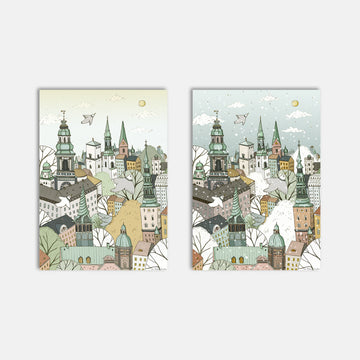 Seasons Of Copenhagen Art Print Set - Darling Spring