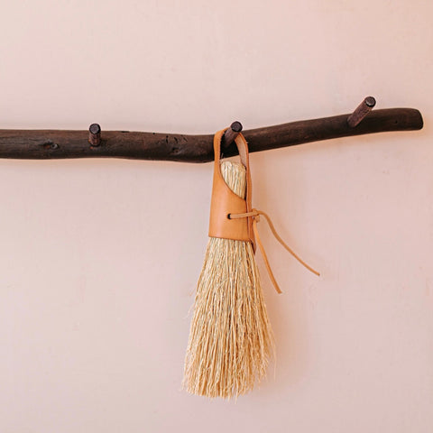 Nesting Broom-Darling Spring-Natural Tan Leather Handle
