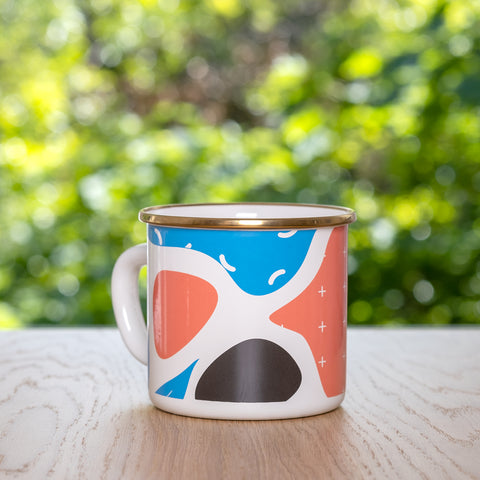 Flashback Large Enamel Mug