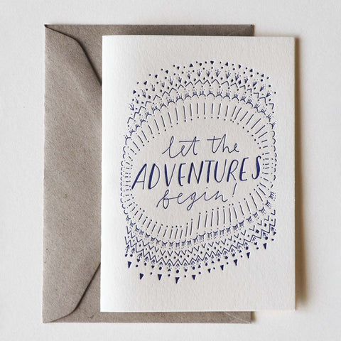 Let the Adventures Begin Greeting Card