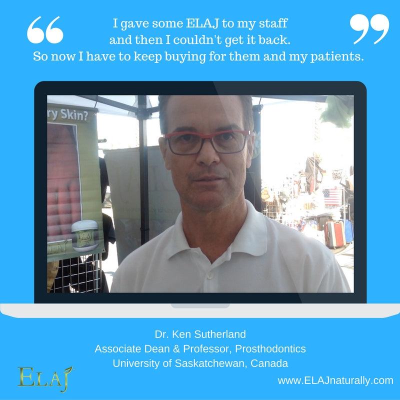 Dr. Ken Sutherland uses ELAJ for his own family, staff and recommends to patients.