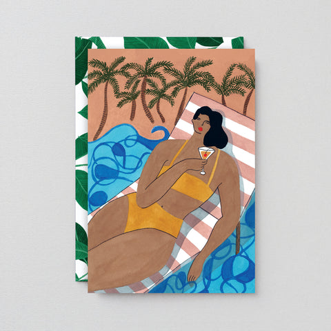 BEACH COCKTAIL ART CARD