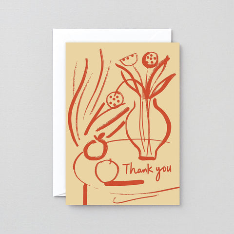 THANK YOU STILL LIFE GREETING CARD