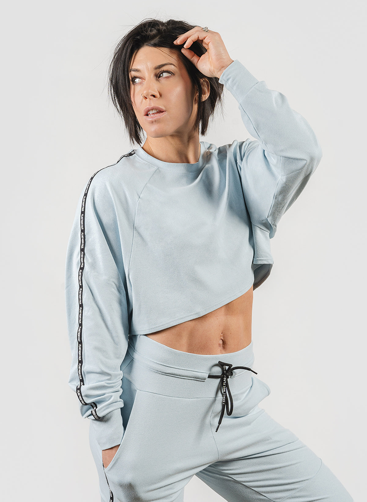 DOLMAN CROP - BABY BLUE