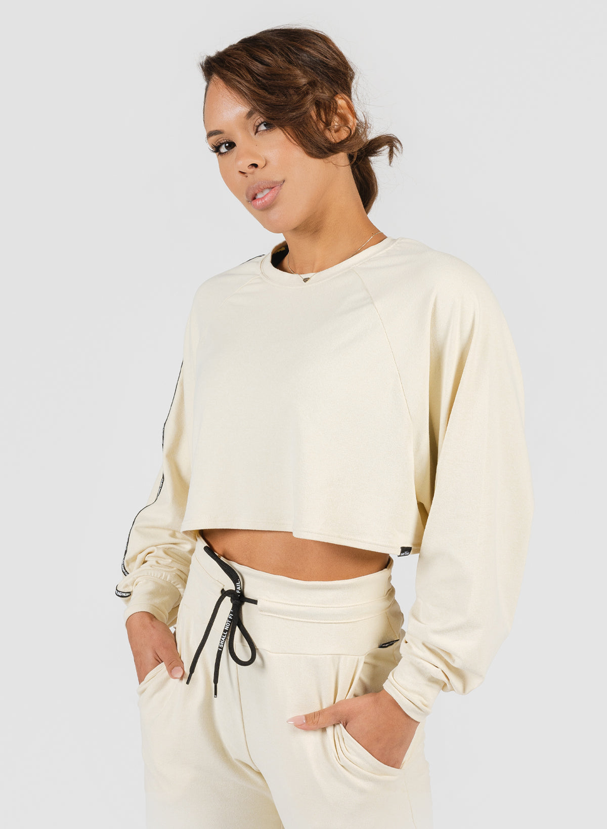 DOLMAN CROP - BONE