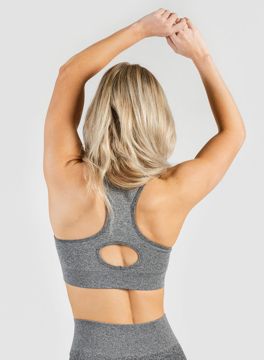 SEAMLESS SPORTS BRA - ASPHALT