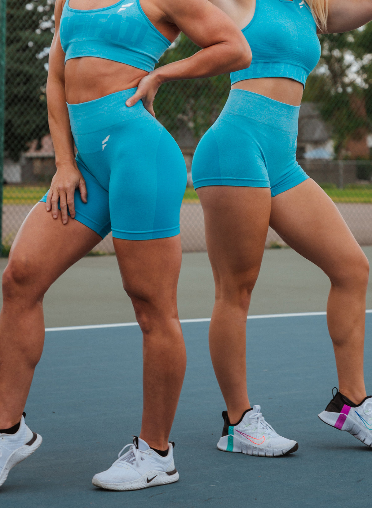 FNF SEAMLESS BIKER SHORTS - BLUE