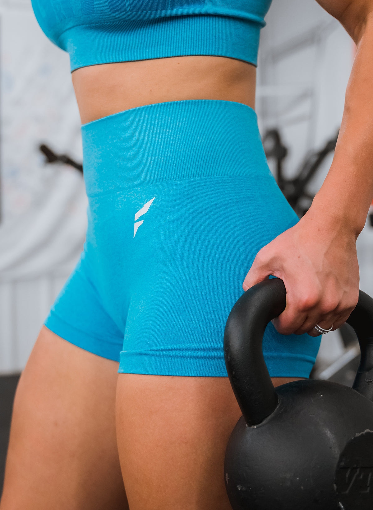 FNF SEAMLESS COMPRESSION SHORTS - BLUE