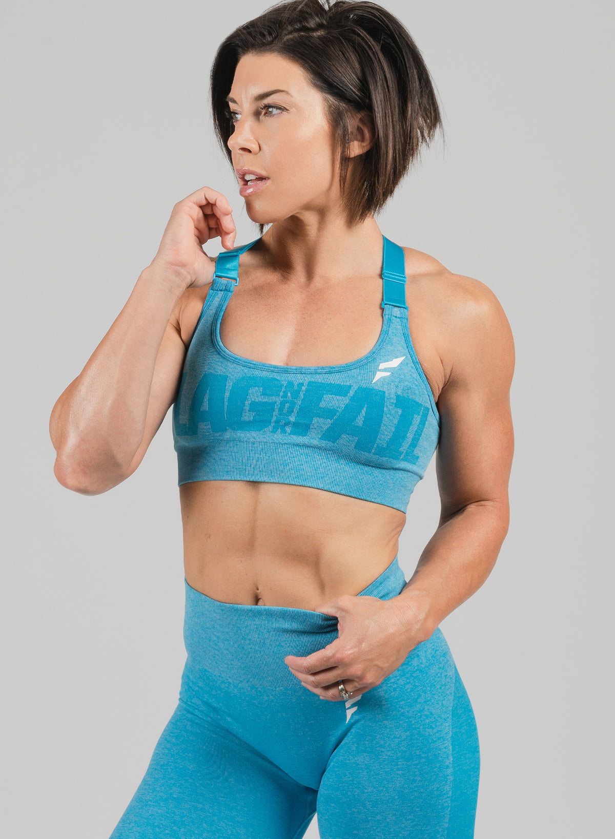FNF SEAMLESS SPORTS BRA - BLUE