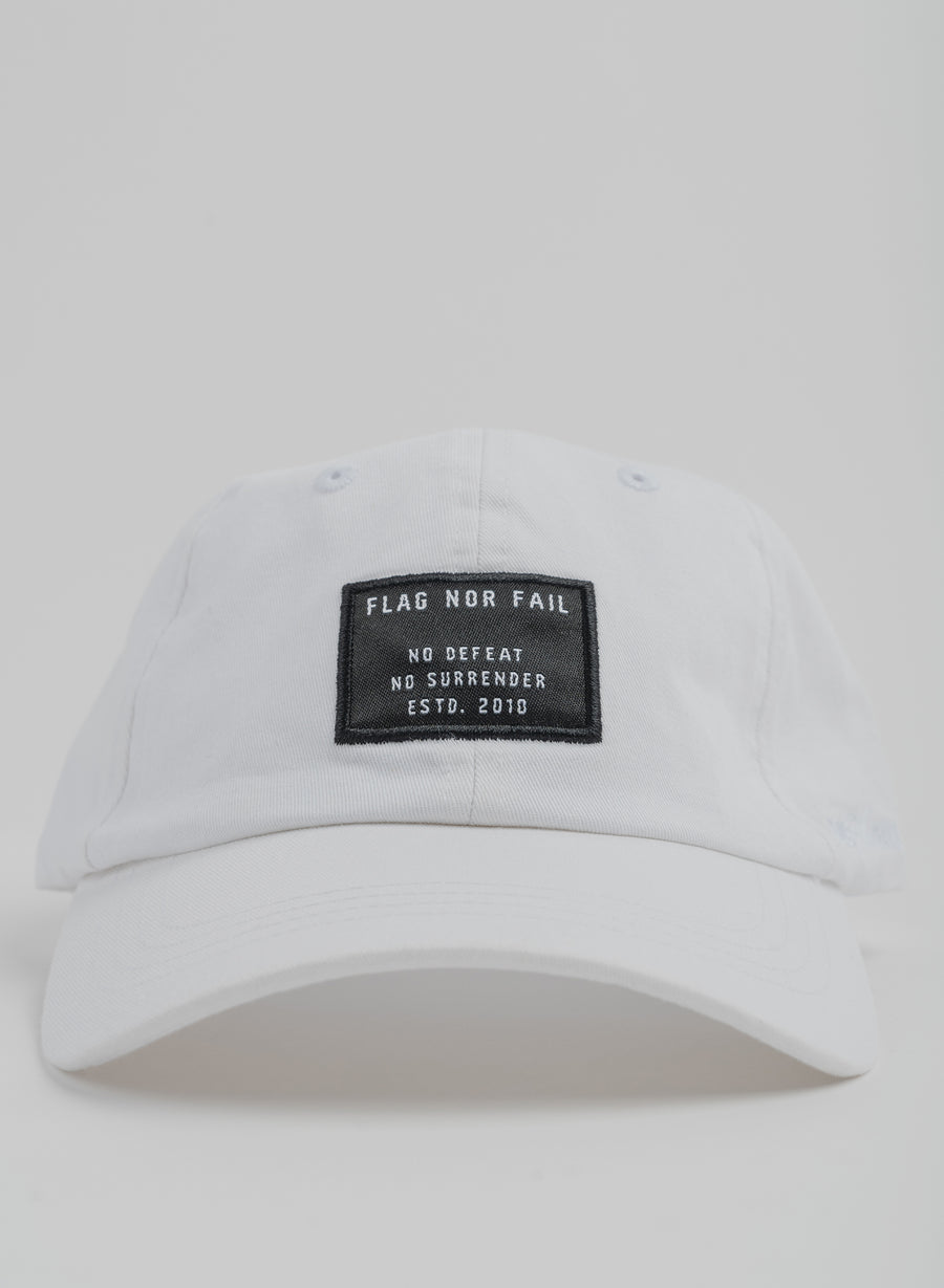 NO DEFEAT DAD HAT - WHITE