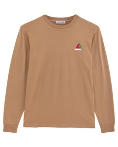 TRIANGLE LONG SLEEVE CAMEL