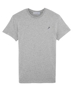 GREY ICONIC P T-SHIRT