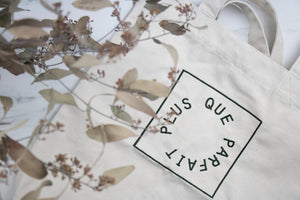 recycled tote bag plus que parfait