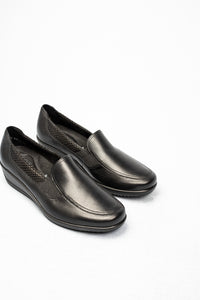 12-40625 Ara Black Leather Slip On Moccasin Shoes for sale online ireland