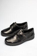 Load image into Gallery viewer, 12-41070 Ara Black Leather Velcro Meran Shoes for sale online ireland