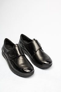 12-41070 Ara Black Leather Velcro Meran Shoes for sale online ireland