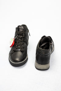 12-44493 Ara Rom Black Leather Trainers for sale online ireland