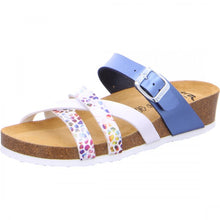 Load image into Gallery viewer, 1217272 10 Ladies Bali Wedge Mule Sandals for sale online Ireland blue