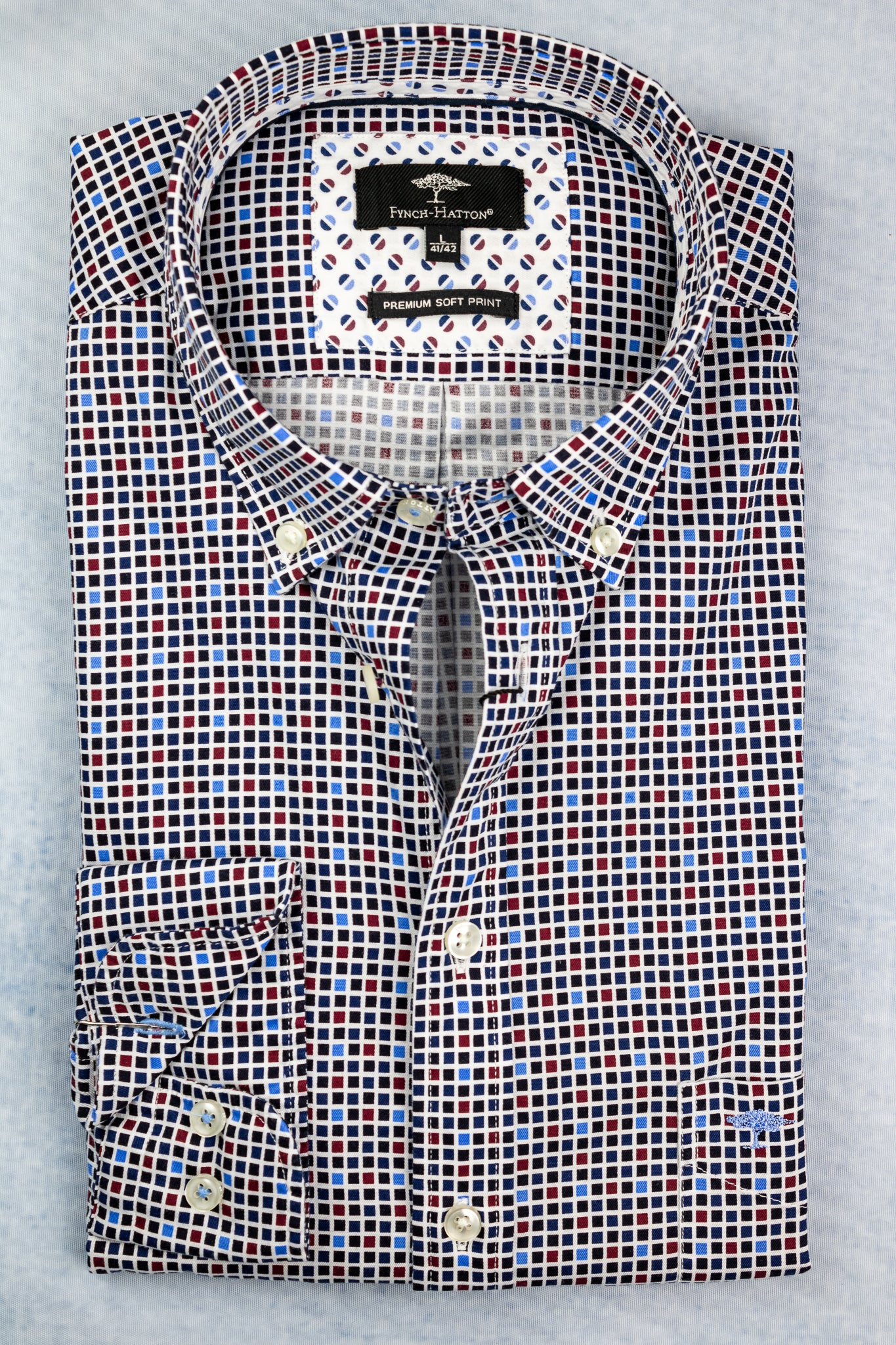 1220 6030 Fynch Hatten Printed Men's Shirt for sale online ireland