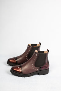 M1807T-CCP Jose Saenz Burgundy Leather Ankle Boots for sale online ireland