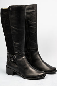 9-25507-25 Caprice Leather Black High Boots for sale online ireland