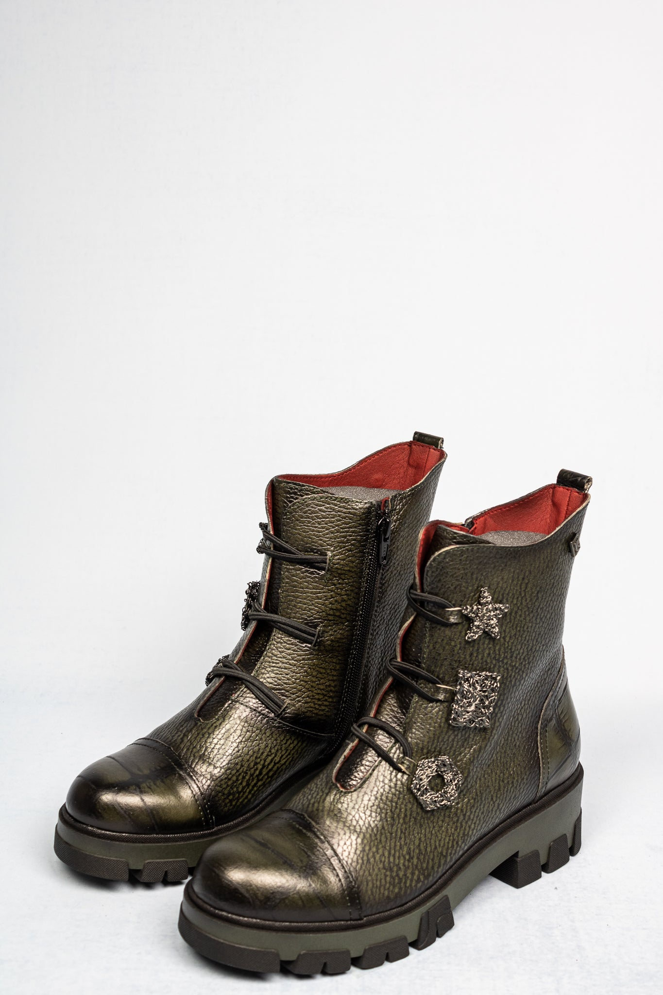3001-K-C Jose Saenz Moss Green Ladies Ankle Boots for sale online ireland