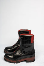 Load image into Gallery viewer, 3009-K Jose Saenz Black & Red Ankle Boot for sale online ireland