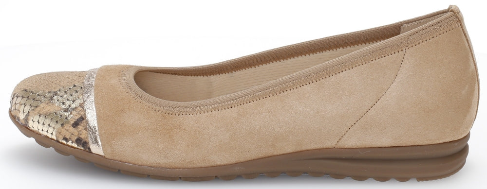 42.622.35 Gabor Ladies Flat Ballet Pumps for work for sale online ireland tan carmel