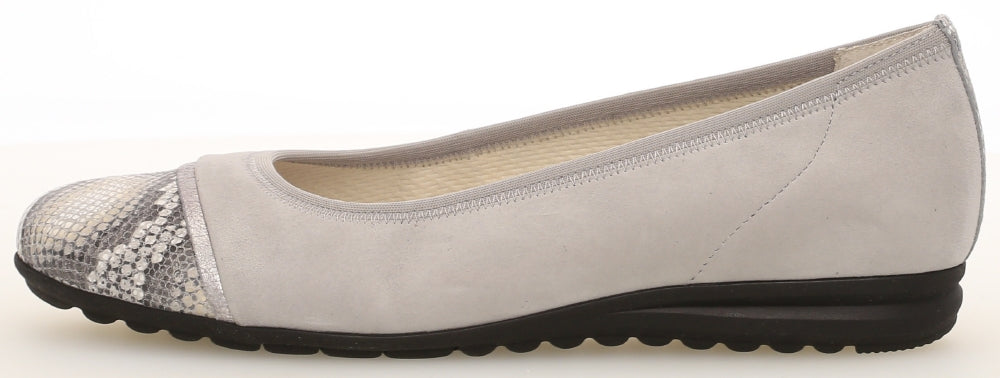 42.622.40 Gabor Ladies Flat Ballet Pumps for work for sale online ireland silver