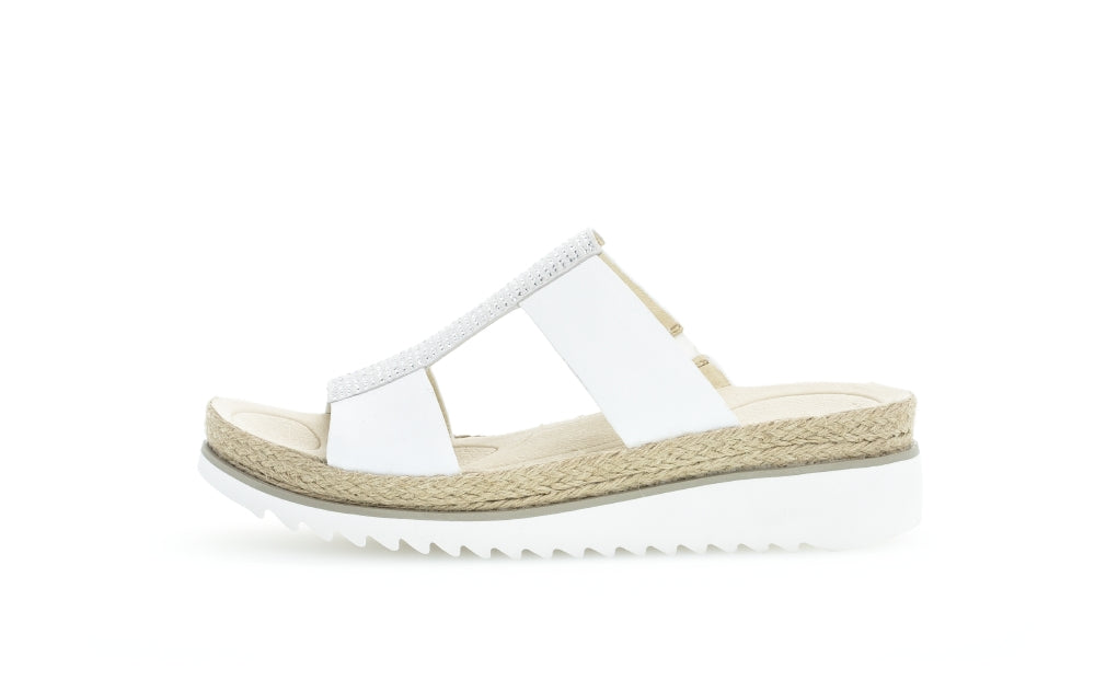 43.720.20 Gabor Ladies Low Wedge Platform Sandals White for sale online ireland