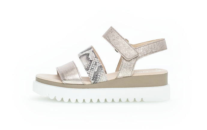 44.610.64 Gabor Ladies Low Wedge Sandal for sale online Ireland glitter