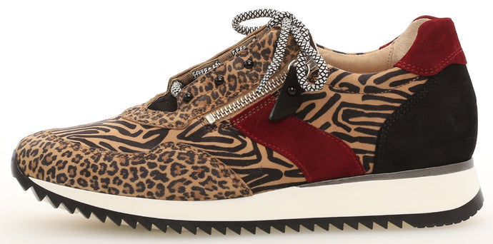 46.338.35 Gabor Flat Ladies Casual Shoes leopard print for sale online ireland