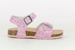 Pink Girls Kids Sandals with Traditional Buckle