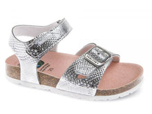 Load image into Gallery viewer, Silver Girls Sandal with Velcro Strap