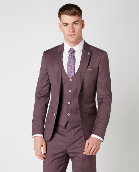 Remus Uomo Slim Burgundy Suit