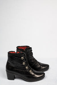 5176-K-TP Jose Saenz Black Leather Ankle Boots for sale online ireland