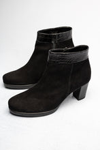 Load image into Gallery viewer, 52.860.37 Gabor Ladies Black Zip Ankle Boots suede for sale online ireland