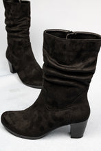 Load image into Gallery viewer, 55.804.47 Gabor Ladies High Black Microvelour Boots for sale online ireland