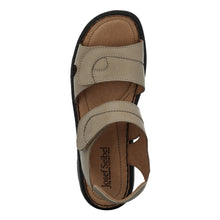 Load image into Gallery viewer, Ladies Adjustable Leather Sandal with Ripe Tape Fastening