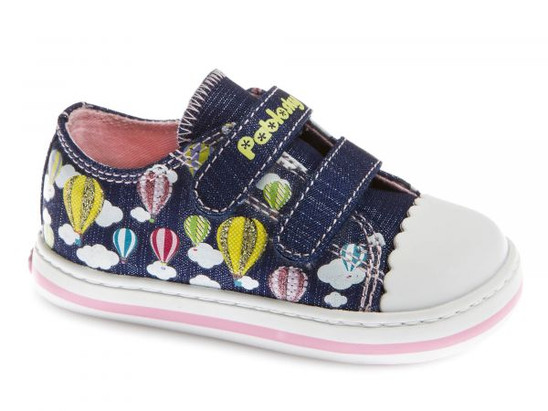 Balloon&Cloud Print Girls Velcro Shoe