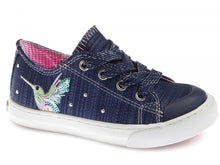 Load image into Gallery viewer, Zip&Lace Girls Shoe with Bird Design