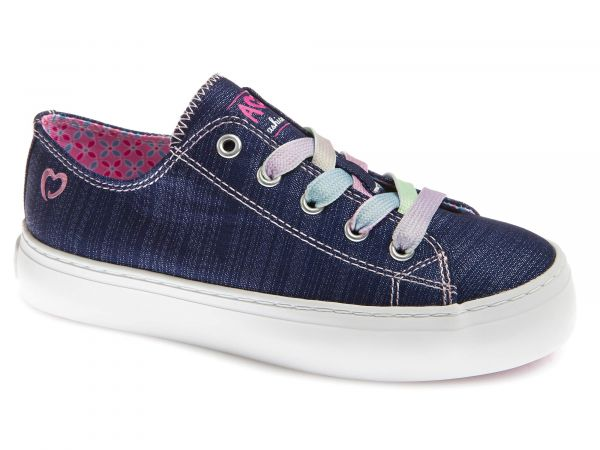 Glitter Girls Shoe with Multicoloured Laces