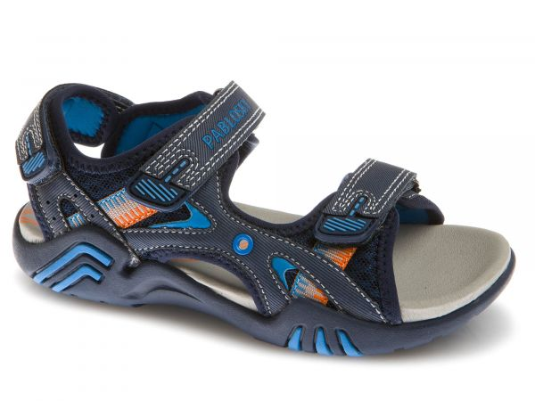Blue Boys Front & Rear Strap Sandal