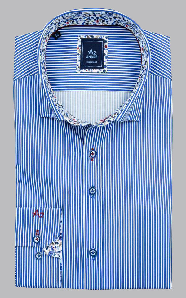 Andre A2 Cliff | Blue Striped Shirt