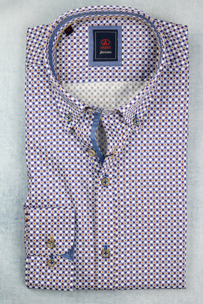 Andre Slaney Taupe Men's Shirt for sale online ireland