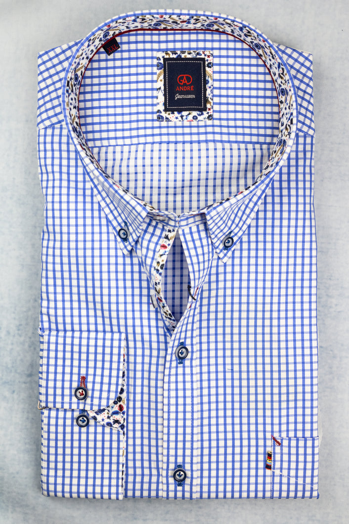 Andre Duke Blue Men's Shirt for sale online Ireland