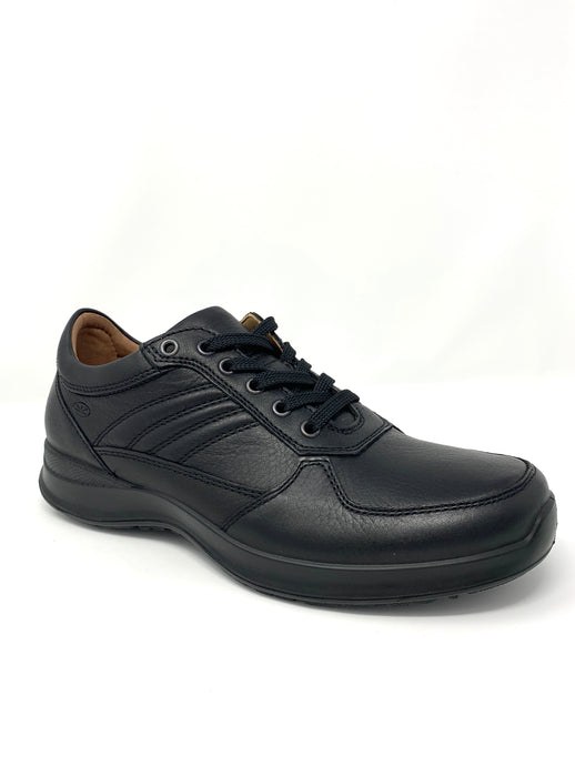 Leather Walking Shoe with Stitch Detailing